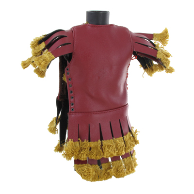 Roman Legionary Pteruges Leather Tunic (Red)