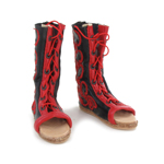 Calcei Parade Closed Leather Boots (Red)