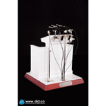 Wooden Podium with Die Cast Microphones (White)