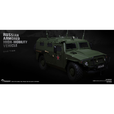 Russian Armored High-Mobility Vehicle Die Cast (Olive Drab)