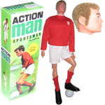 Action man body blond haird & sideburns