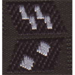 Elite Collar Tabs Oberscharfuhrer (Black)