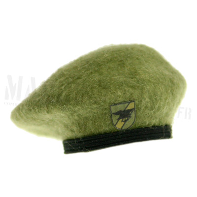 light green beret