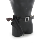 Cowboy pistol and holster set (Black and cross draw)