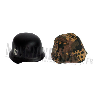 Elite helmet and cover fall oak leaf camo