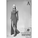 Nikita Evening Dress Set (Red)