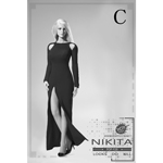 Nikita Evening Dress Set (Black)