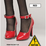 Female Anna Heeled Shoes (Red)