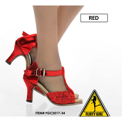 Female Open Heeled Shoes (Red)