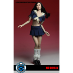 Battle Damaged Female School Uniform Set (Blue)