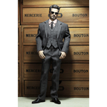 Style Series - Men's Striped Suit Set (Grey)