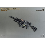 British Special Force Weapon Set - HK417 Sharpshooter / L17A2 Assault Rifle (Black)