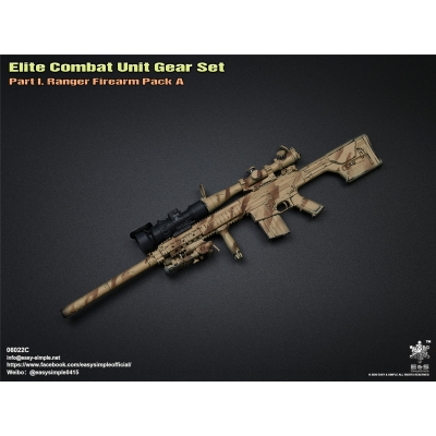 Elite Combat Unit Gear Set - Part 1 Ranger Firearm Pack A (2 Colors Camo)