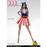Female U.S.O Clothing Set (Blue)