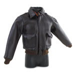 Leather Flight Jacket (Brown)