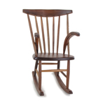 Wooden Rocking Chair (Brown)