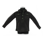 Black pullover shirt with pockets