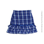 Uniform Series - Blue Tartan Layered Skirt