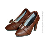 Shoes Series - Brown Leather High Heel Pumps