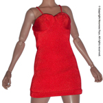 Uniform Series - Red Mini Halter Dress