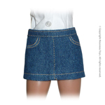 Uniform Series - Basic Blue Denim Short Skirt