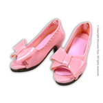 Shoes Series - Pink Bow Open-Toe Heel Shoes
