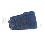 Denim full cut jeans worn