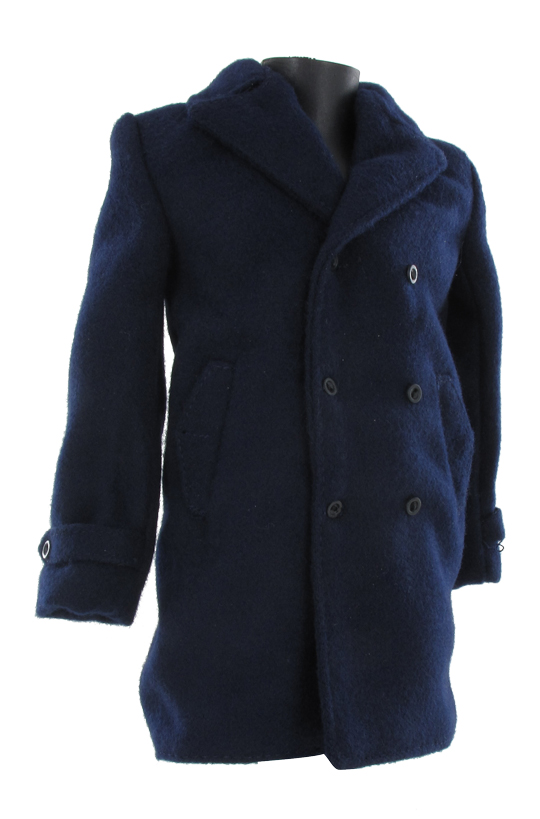 Wool Peacoat Jacket (Blue)