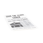 Hill Valley Newspaper (White)