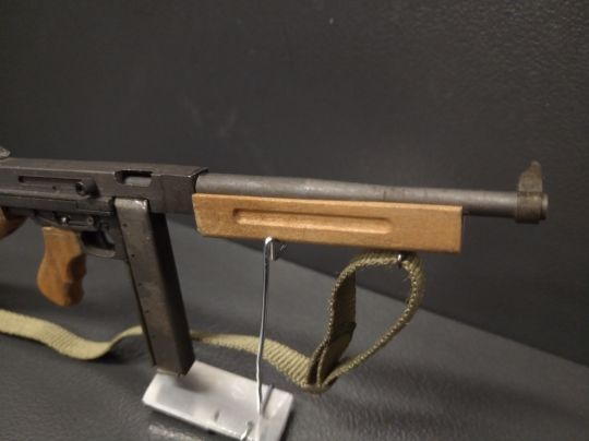 Diecast and wooden M1A1 Thompson Submachinegun (Black)