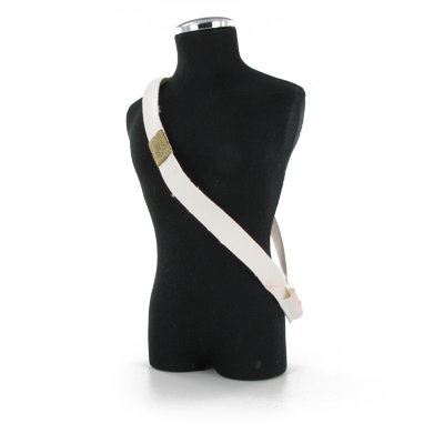 White leather sling bayonet or sword holder