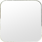 Square mirror with rounded hedges 39x39mm