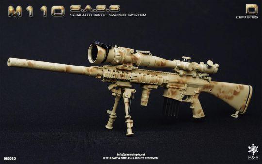 M110 Semi Automatic Sniper System (Desert Camo) EASY ... M110 Sniper Rifle Suppressed