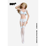 Female Lace Lingerie Set (White)