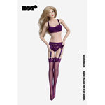 Female Lace Lingerie Set (Purple)