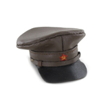 Leather M35 Russian Officer Cap (Brown)