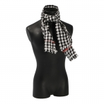 Checked Scarf (White)