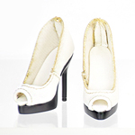 High Heels Female Catwalk Series 3 Shoes (White)
