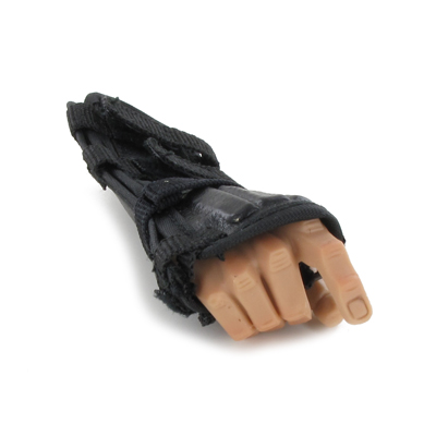 Caucasian Male Right Hand with Forearm Protection (Black)