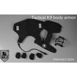 Tactical K9 Dog Body Armor Set (Black)