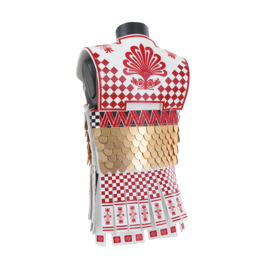 Greek Hoplite Linothorax Body Armor (Red)