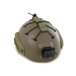 FAST Maritime Ballistic Helmet with Tactikka Plus Head Light (Coyote)