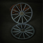 German Field Wagon Wooden Wheel (Grey)