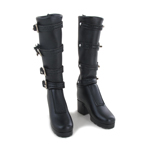 Female Leather Boots (Black)