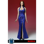 Asian Cheongsam Dress Set (Blue)