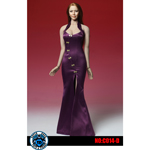 Asian Cheongsam Dress Set (Purple)