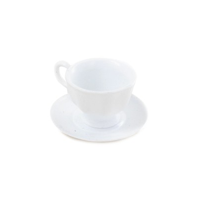 Coffee Cup with Saucer (White)