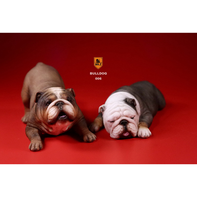 British Bulldog Dogs Set (Brown)