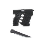 Modular Glock Gun with Long Blades (Black)