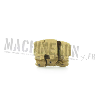 M4 tag MOLLE triple mag pouch tan